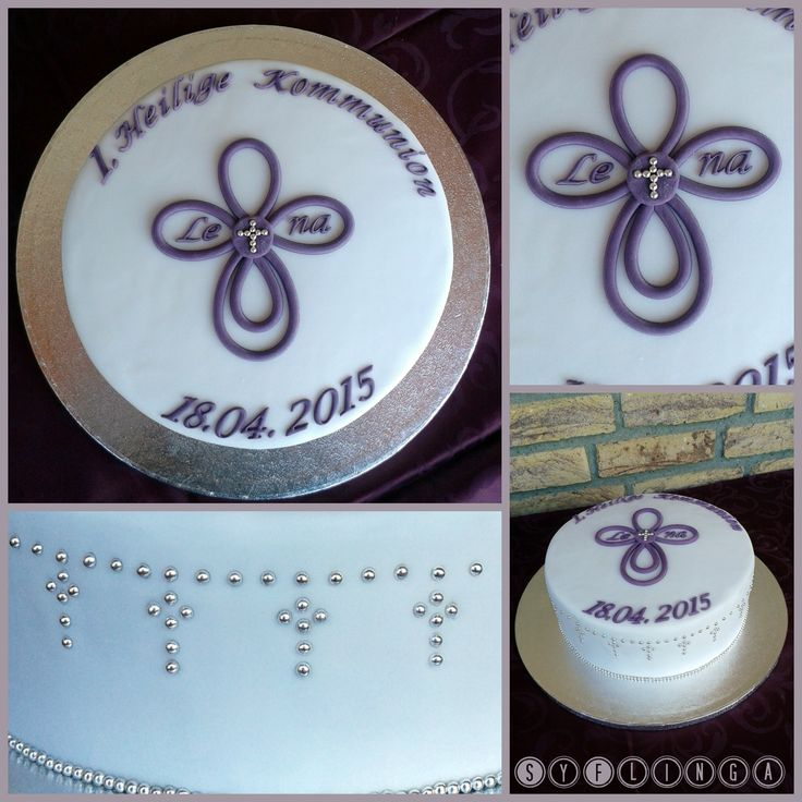 Kuchen zur Kommunion (Fondant Kommunion Cake)