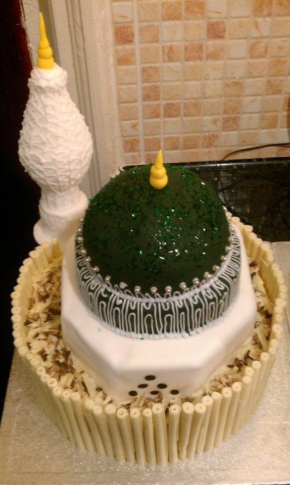 Halal Cake Decorations Uk : Mosque Cake Eid ramadan Pinterest Mosques, Cake and Love
