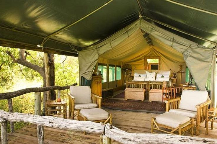 Accommodation Interior - Xakanaxa Camp, Moremi Game Reserve, Botswana