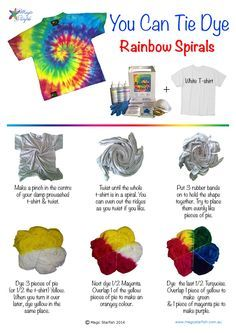 Tie Dye Directions - Bing images