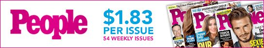 What are your favorite celebrities up to? Find out with a magazine subscription to PEOPLE for just $1.83 per issue!