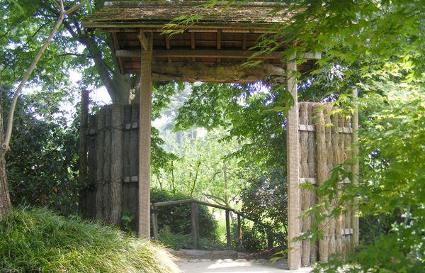 jardin japonais porte de tressages japonais porte ouverte pinterest porte de japonais et. Black Bedroom Furniture Sets. Home Design Ideas