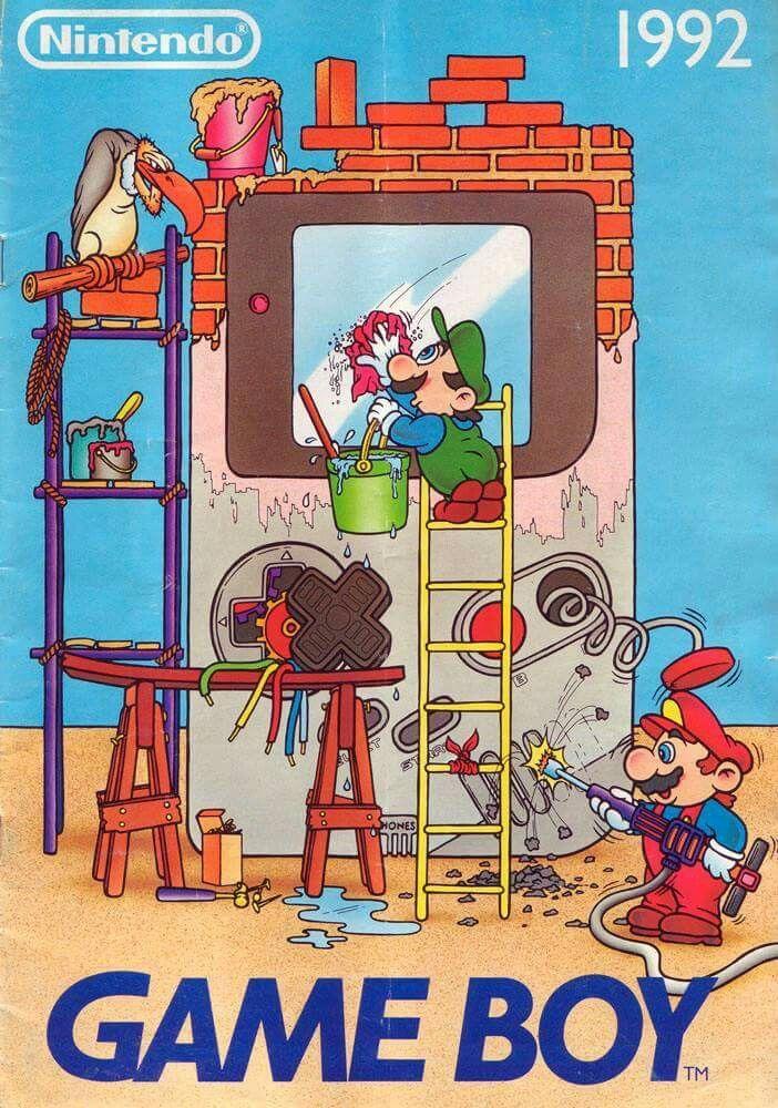 Classic Nintendo Game Boy Retro Poster Comic Pinterest