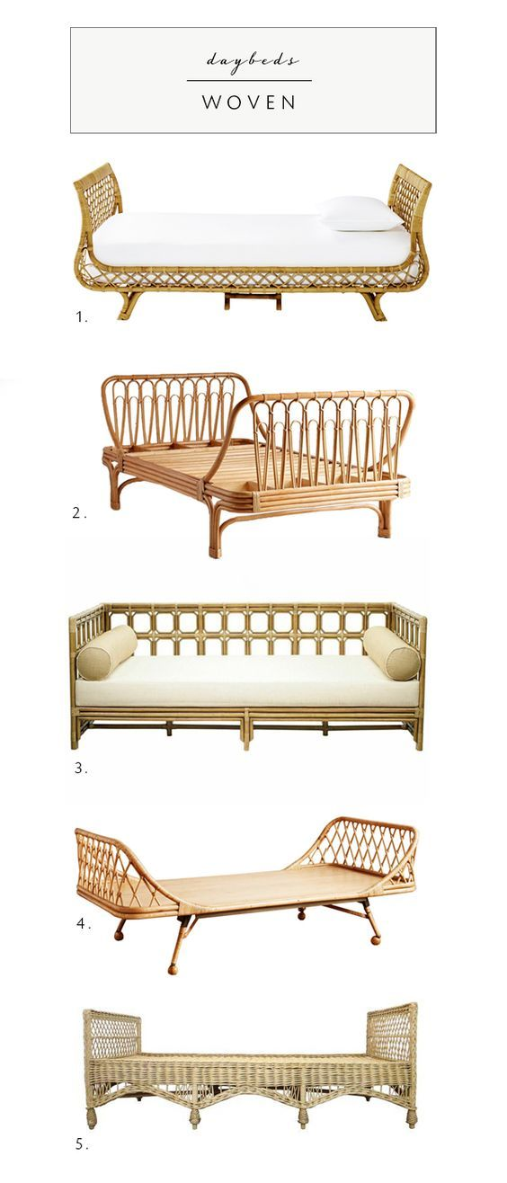 daybed roundup in every style on coco kelley | rattan and woven daybeds