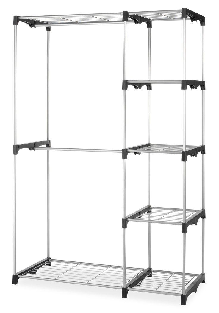 online fashion uk stores Amazon com  Whitmor 6779 3044 Double Rod Closet  Silver  Home  amp  Kitchen