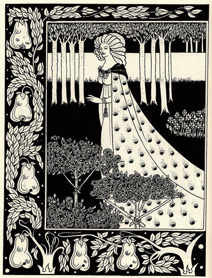 Beardsley 1872-1898, Aubrey, England La Beale Isoud at Joyous Gard