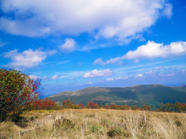 Widok z Małej Rawki na Połoninę Caryńską. Jarzębiny. Bieszczady Mountain Poland 2015. #Bieszczady #Mountain #PołoninaCaryńska #Mała Rawka