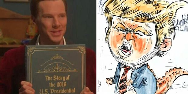 Benedict Cumberbatch, certainly seemed to have perfected the art of telling a bedtime tale during a hilarious comedy sketch on The Late Late Show. Photo / Late Late Show