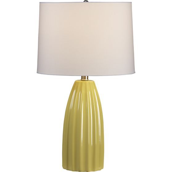 For bedside table - Ella Yellow Ceramic Table Lamp in Table & Desk Lamps |  Crate - Best 25+ Yellow Table Lamps Ideas On Pinterest Wire Table