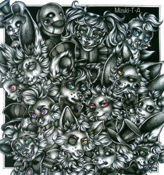 Five Nights at Freddy's Random Headshots by Mizuki-T-A
