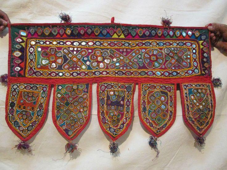 Window Decoration Indian Valance Kutch Door Toran Hanging Vintage Embroidery #Handmade #Indian