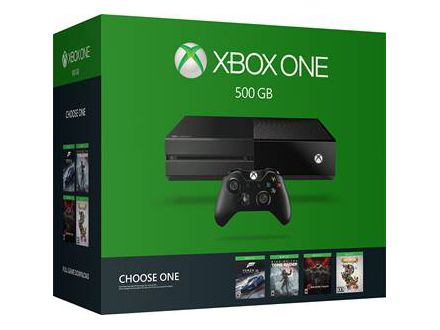 MICROSOFT XBOX ONE 500GB CONSOLE BLACK GAME BUNDLE