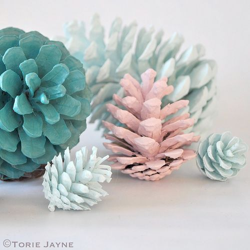 DIY Painted Pinecone Home Decor