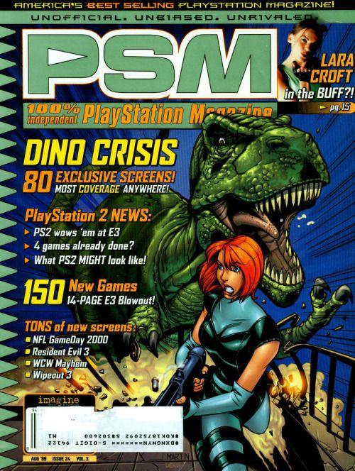 PSM magazine Dino Crisis cover.