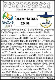 Jogos olímpicos 2016, texto informativo