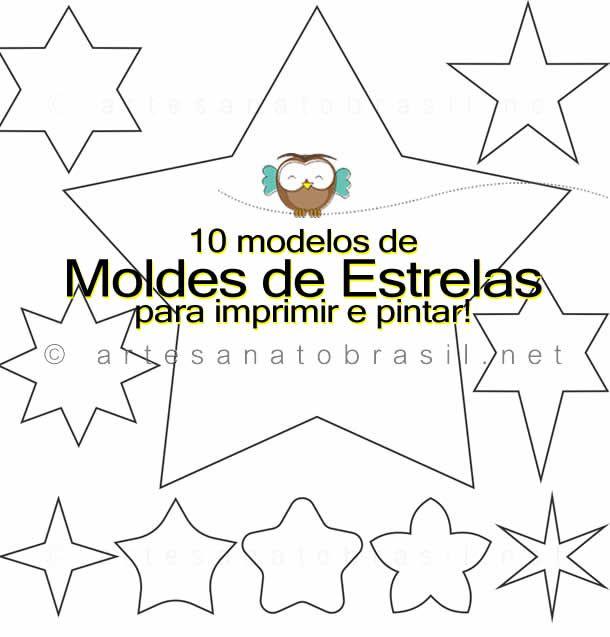 Quer baixar molde de estrela para trabalhar com artesanato? Faça o download de 10 moldes de estrelas em .PDF) Grátis (Por tempo limitado).