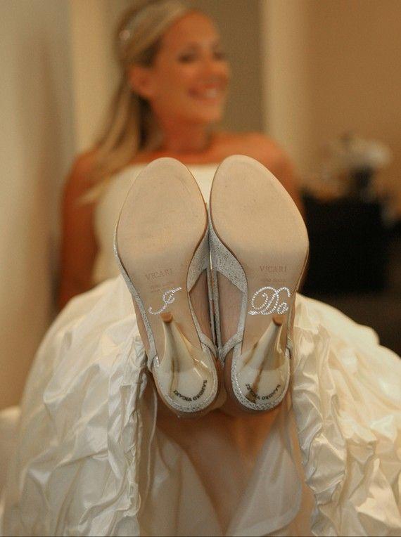 """""""I do"""" wedding shoes"""