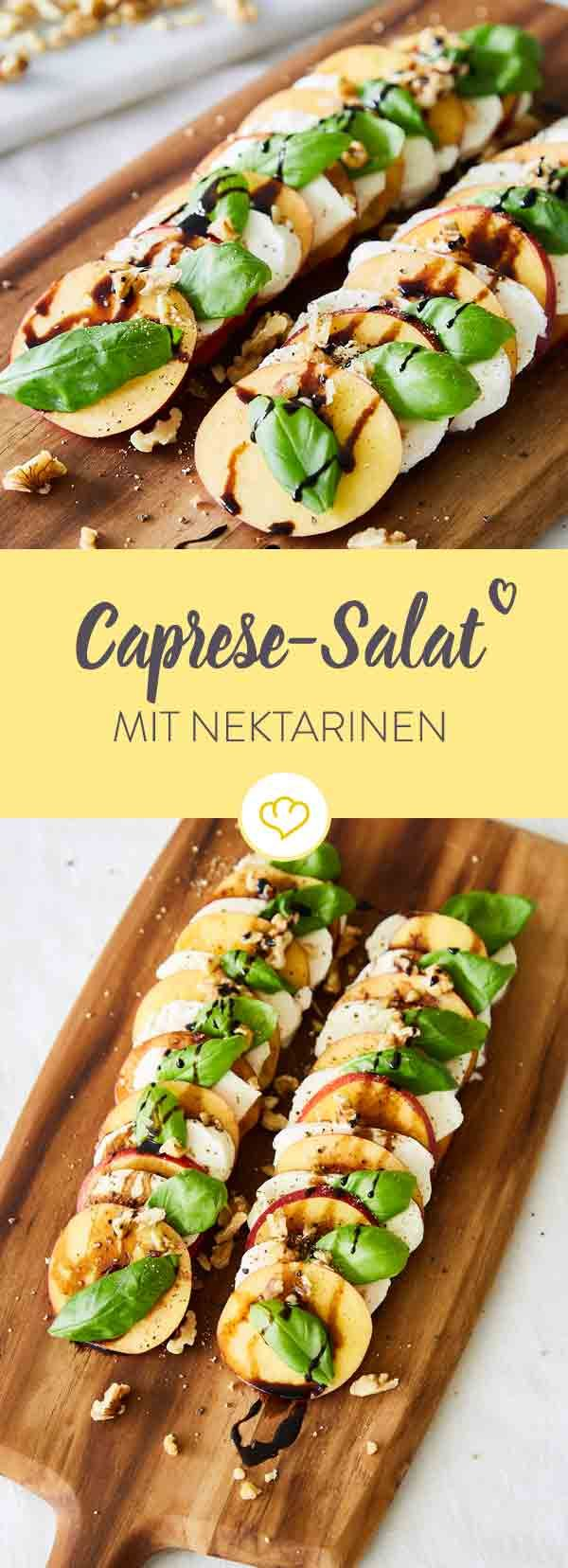 Caprese-Salat mit Nektarinen