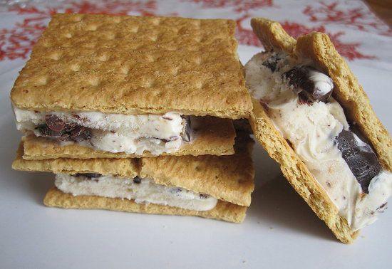 mores ice cream sandwich   recipe I love   Pinterest