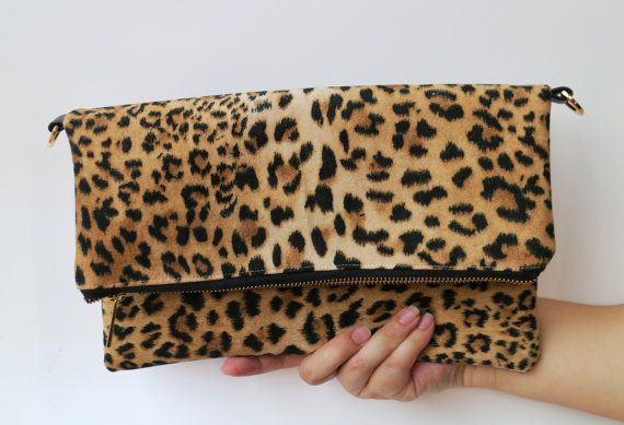 Monthly Sales Keira clutch in Leopard Print Clutch / Bag / Purse / Clutch / Leather Bag / For her / Handbag / Women/ vegan leather bag