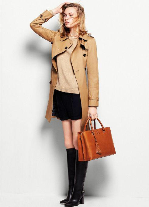 Tonos marrones y colores neutros invaden el catálogo de bolsos de Massimo Dutti otoño invierno 2013/14