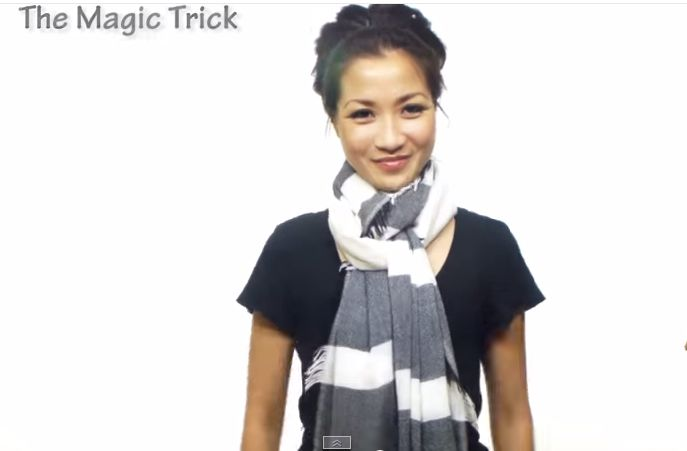 come indossare una sciarpa invernale