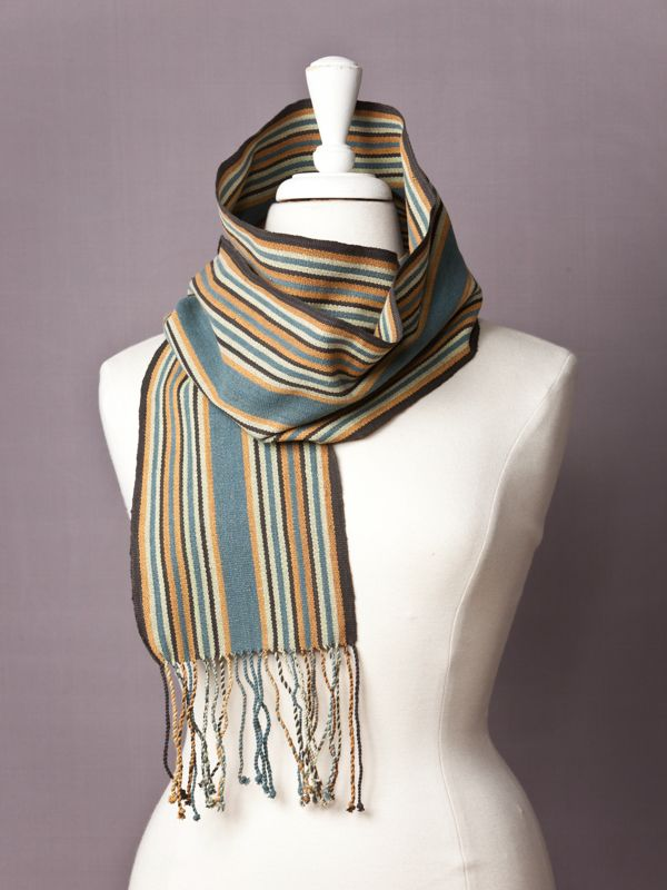 Metro Ranger Striped Scarf - 100% Cotton - Plant Dyed - Fair Trade - Hand woven - Textile Lovers shop here www.etwa.org.au
