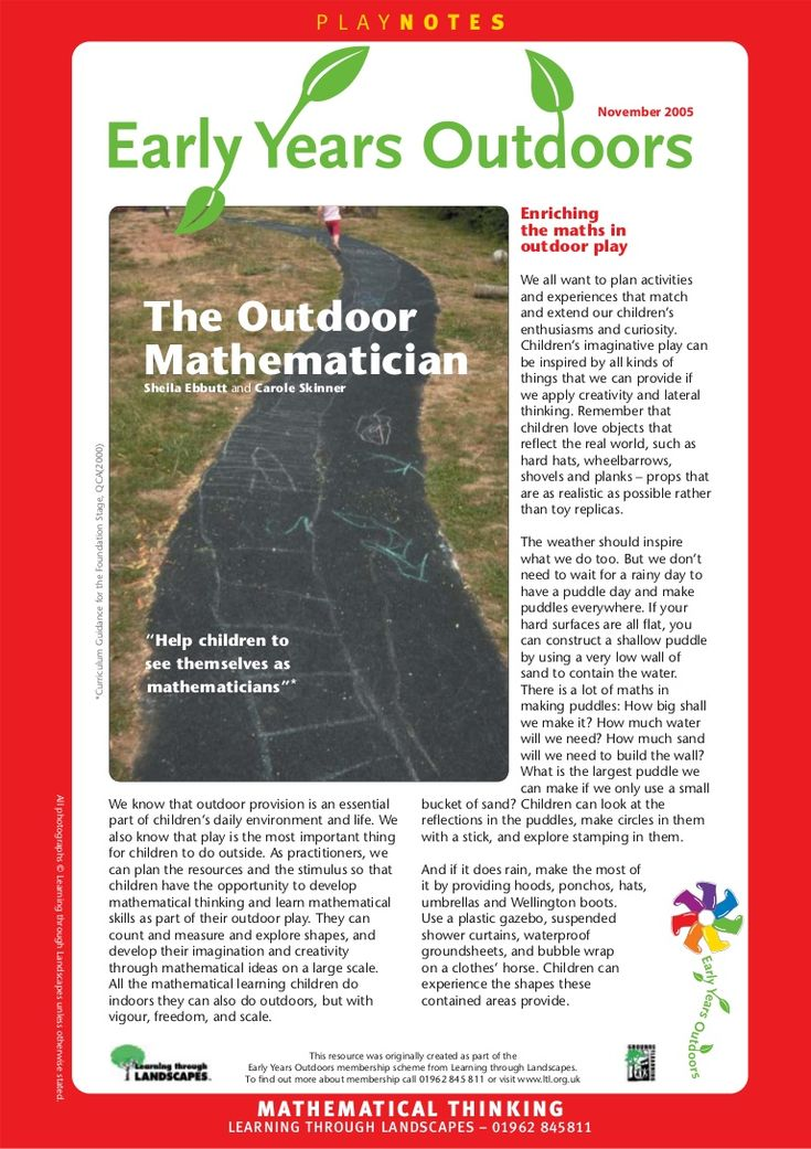 the-outdoor-mathematician-early-years-outdoors-learning by BenBeckers via Slideshare