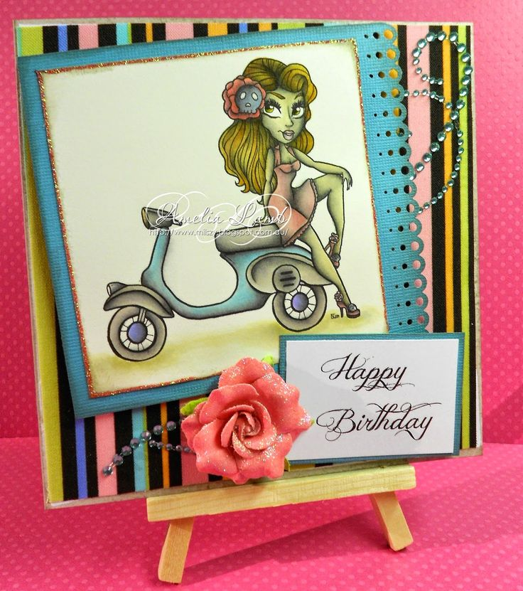 Milly's Cards - The Stamping Chef - Toot my Scoot