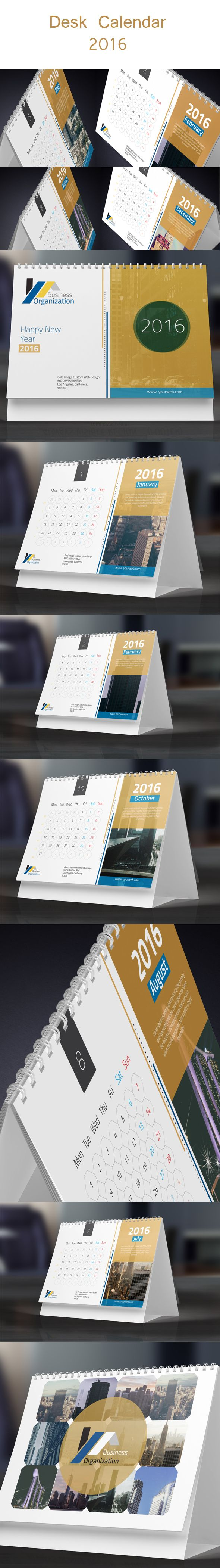Desk Calendar 2016 on Behance