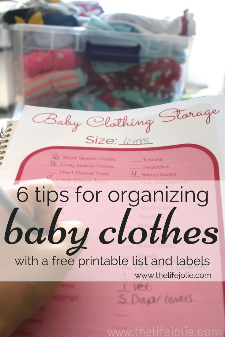 6 tips for organizing baby clothes | The Life Jolie