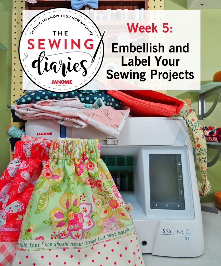 Thread Riding Hood - Janome Sewing DIaries - Week 5 - Embellish and Label
