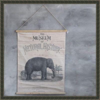 Wandkaart olifant History