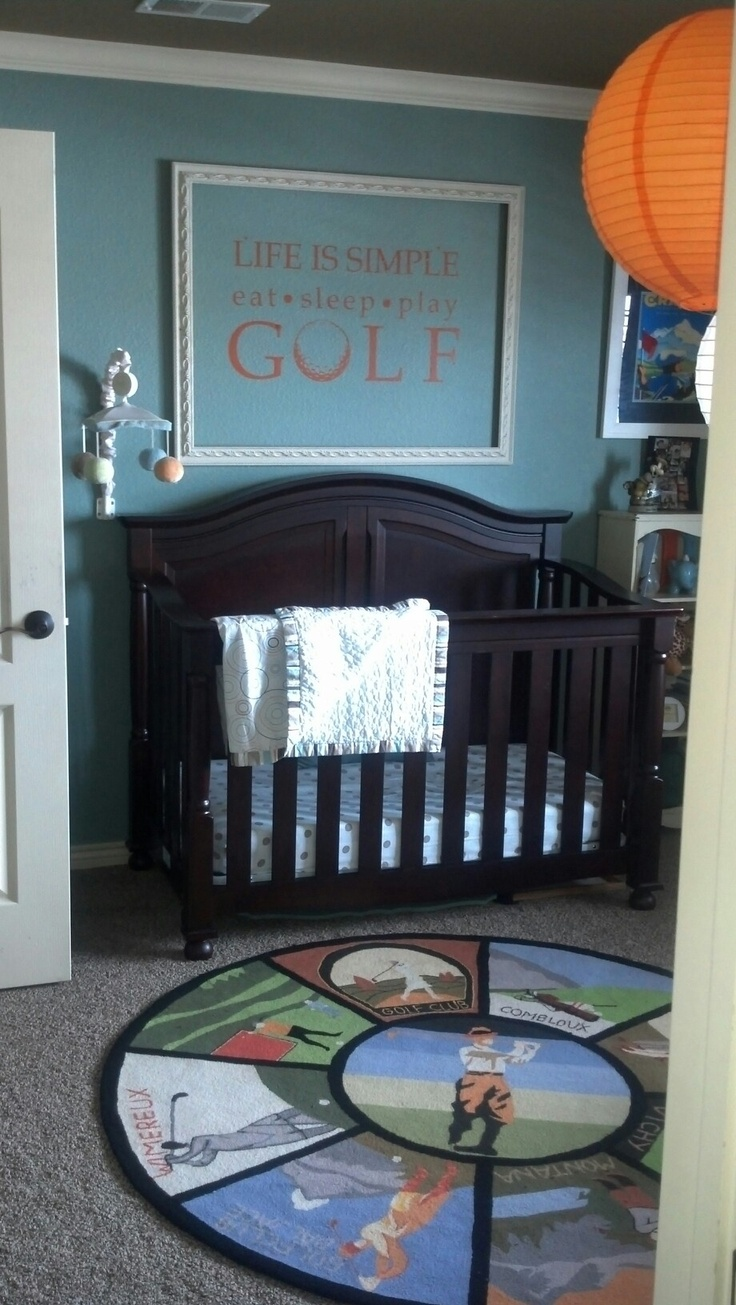 baby golf room - how adorable!