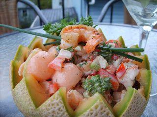 Dans la cuisine de Annie: Capsule: Salade de crevettes et cantaloup