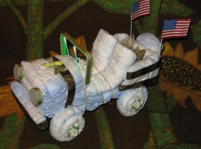 jeep diaper cake instructions