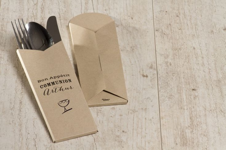 Pochette couverts en papier eco