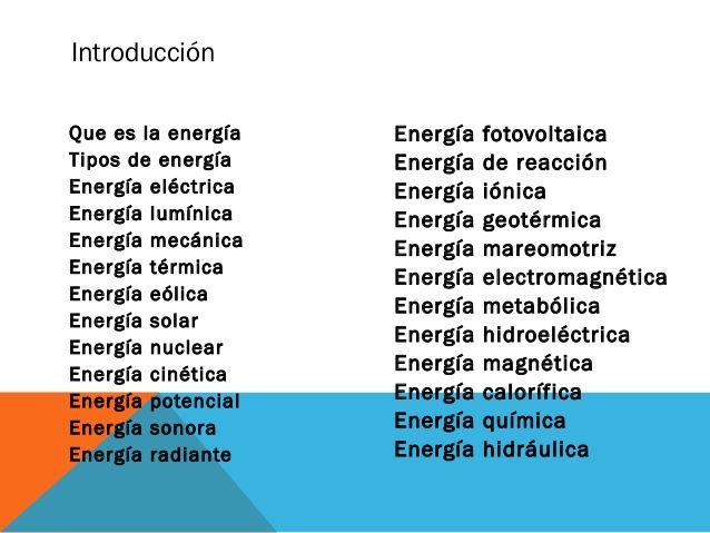Pin En Tipos De Energia
