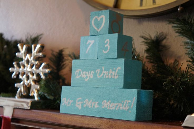WEDDING COUNTDOWN BLOCKS. Days Until I Do. Mr And Mrs Countdown. Bridal Shower Gift. Engagement Gift. Personalized Wedding Countdown. by CreativeRusticHands on Etsy
