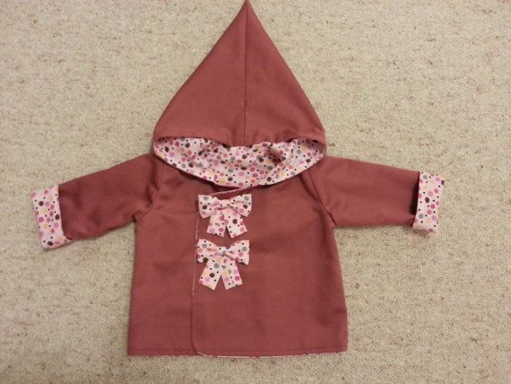 Cotton Jacket with Pointy Hood Size 6m-3y by NoraMadeMe on Etsy