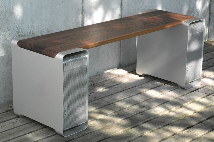 klaus geiger converts apple power mac G5s into contemporary furniture