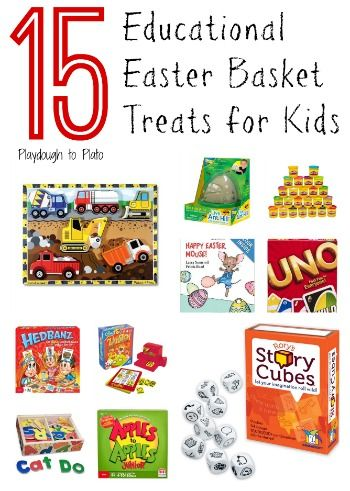 15 Educational Easter Basket Ideas for Kids - Playdough To Plato