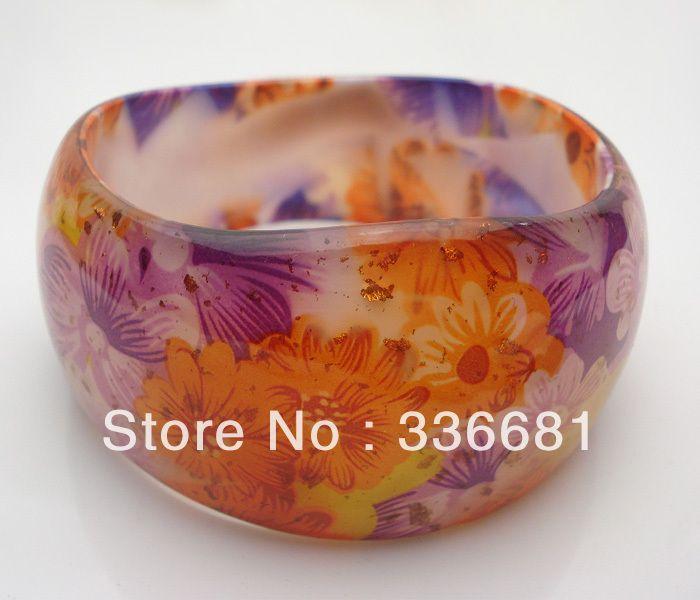 lavender and orange lucite  bracelets   ... hars lucite onregelmatige plastic bangle armband 1 gelaagde armbanden