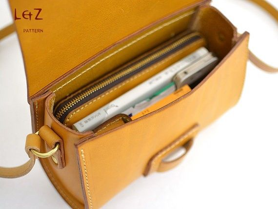 bag sewing patterns cross body bag patterns leather bag patterns PDF insant download BXK-09 LZpattern design | Ananasa