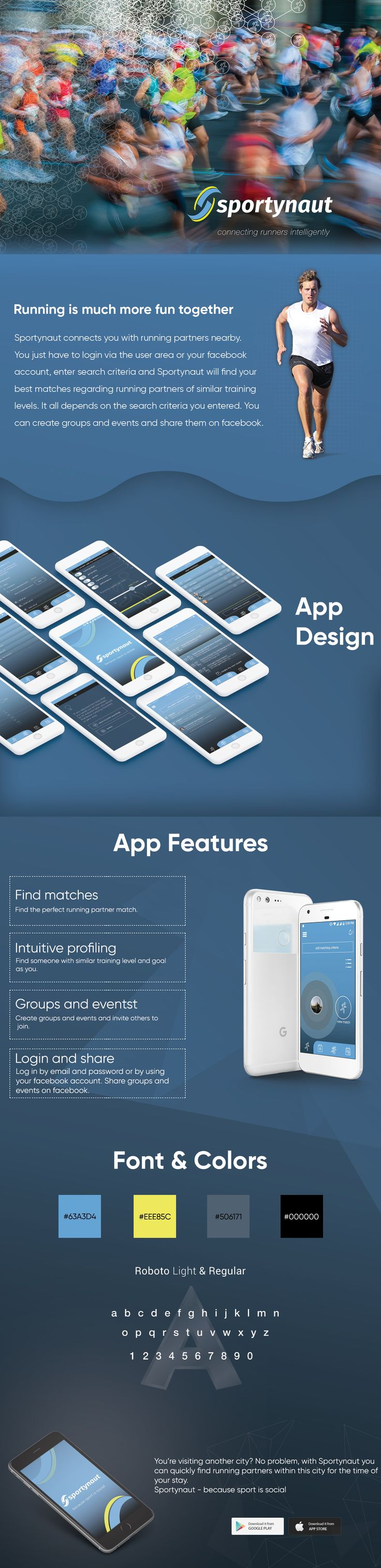 """Check out our @Behance project: """" #Sports #Social Network #App (SportyNaut)"""" #iphoneapp #androidapp #ui #ux #design"""