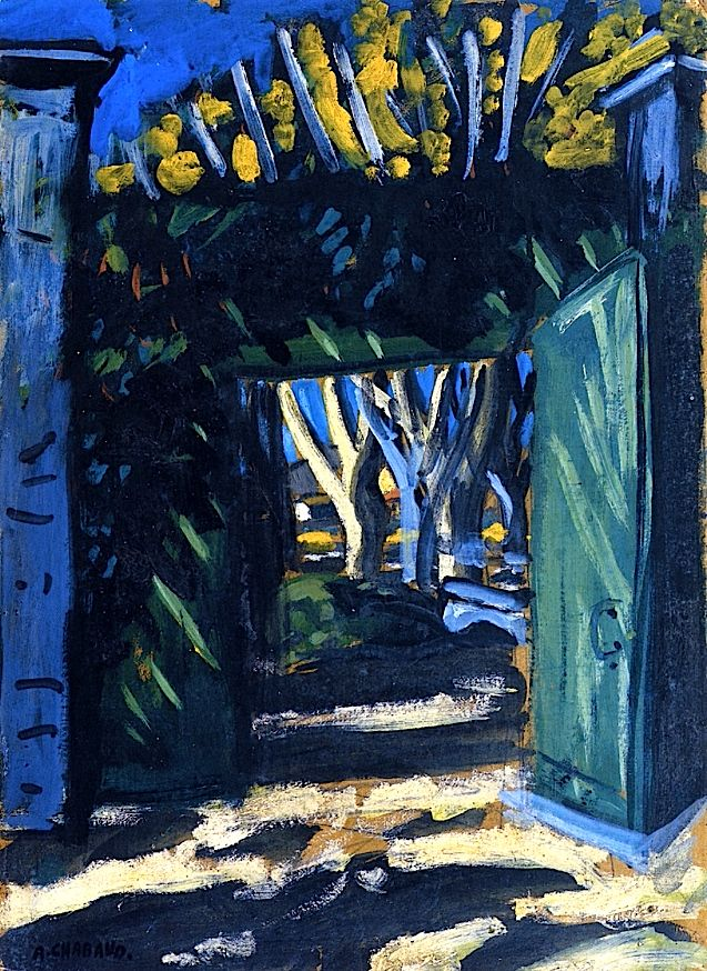 bofransson:  The Green Gate Auguste Chabaud - 1909 ~Via t o