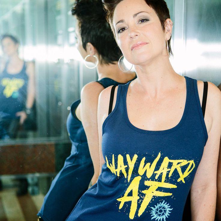 """Kim Rhodes & Briana Buckmaster """"Wayward AF"""" Campaign supernatural t shirts"""