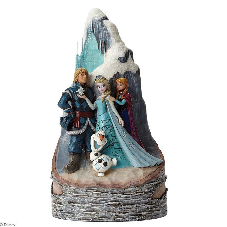 Enesco 4048651 - Disney Traditions Frozen Scene Carved