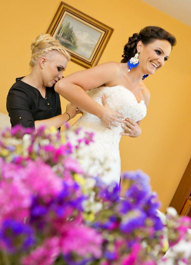 Przygotowania do ślubu, Dąbrowa Tarnowska, przygotowania w domu Panny Młodej