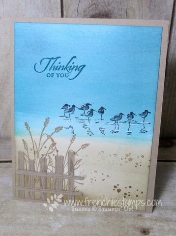 Stamp & Scrap with Frenchie: Masculine Beach card Wetland
